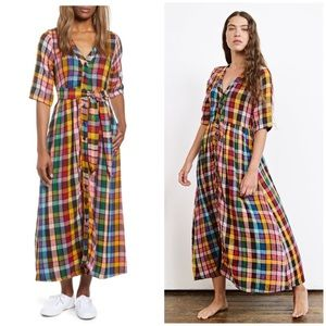 NEW Ace & Jig Leelee plaid dress